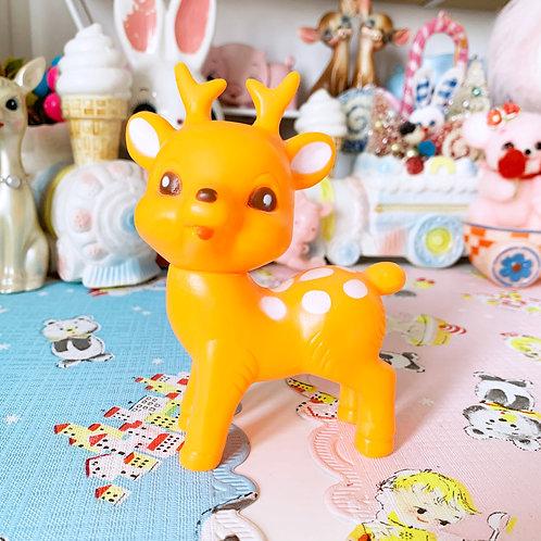 Lapin & Me Bright Orange Kitschy Cute Deer - Made In Japan