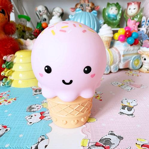 Kitschy Cute Strawberry Ice Cream Night Light