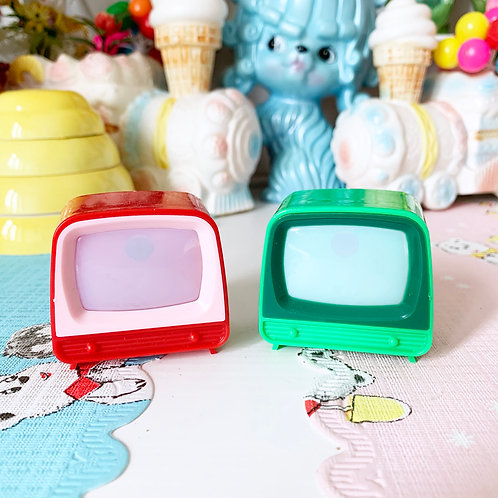 Miniature Plastic TV - Red or Green