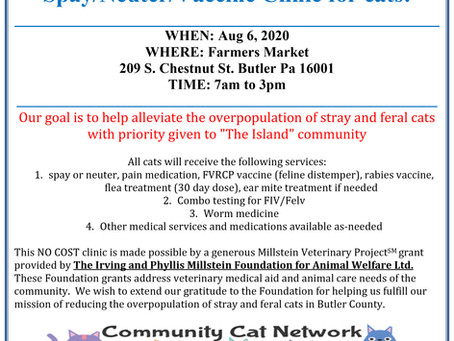 No Cost Spay/Neuter clinic