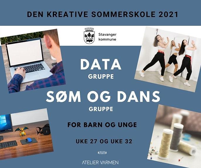 Den kreative sommerskole 2021 - FB post.