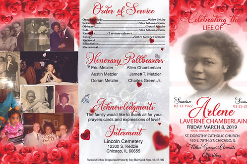 Funeral Programs-Printing