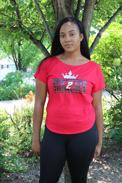 Crowned 2 Conquer-Dolman with Rolled Sleeves