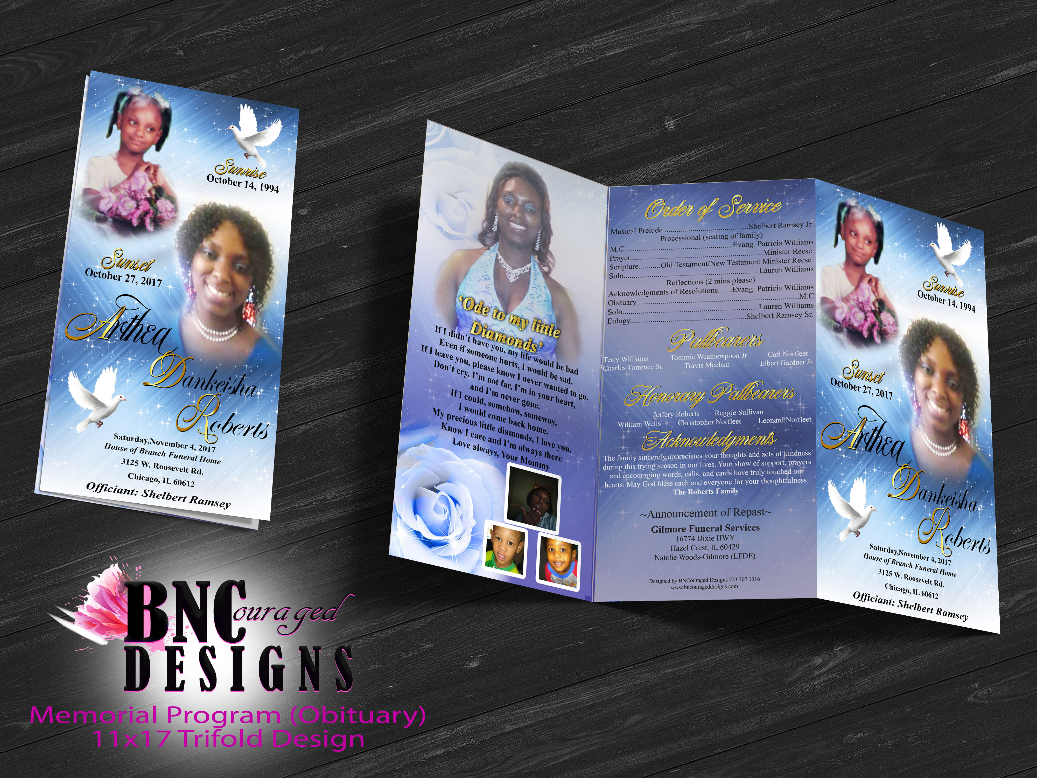 Free Z-Fold-Brochure Mockup PSD