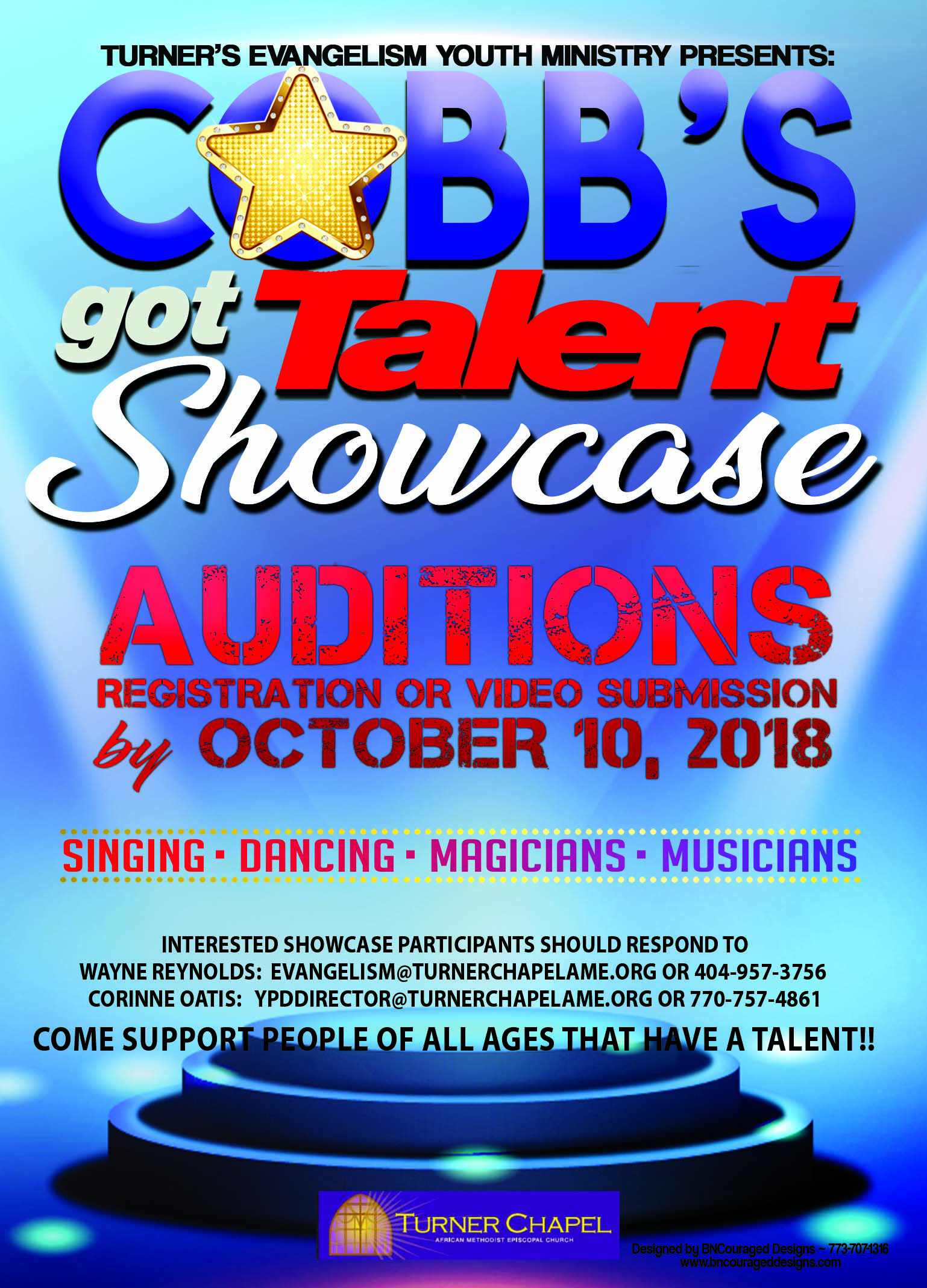COBBS Talent Show back