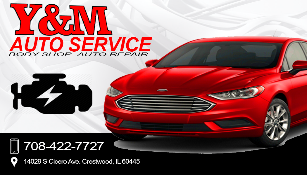 y and m auto service bc front
