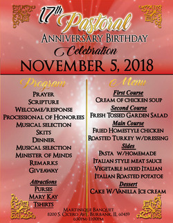 Pastor Tubbs Anniversary Flyer back