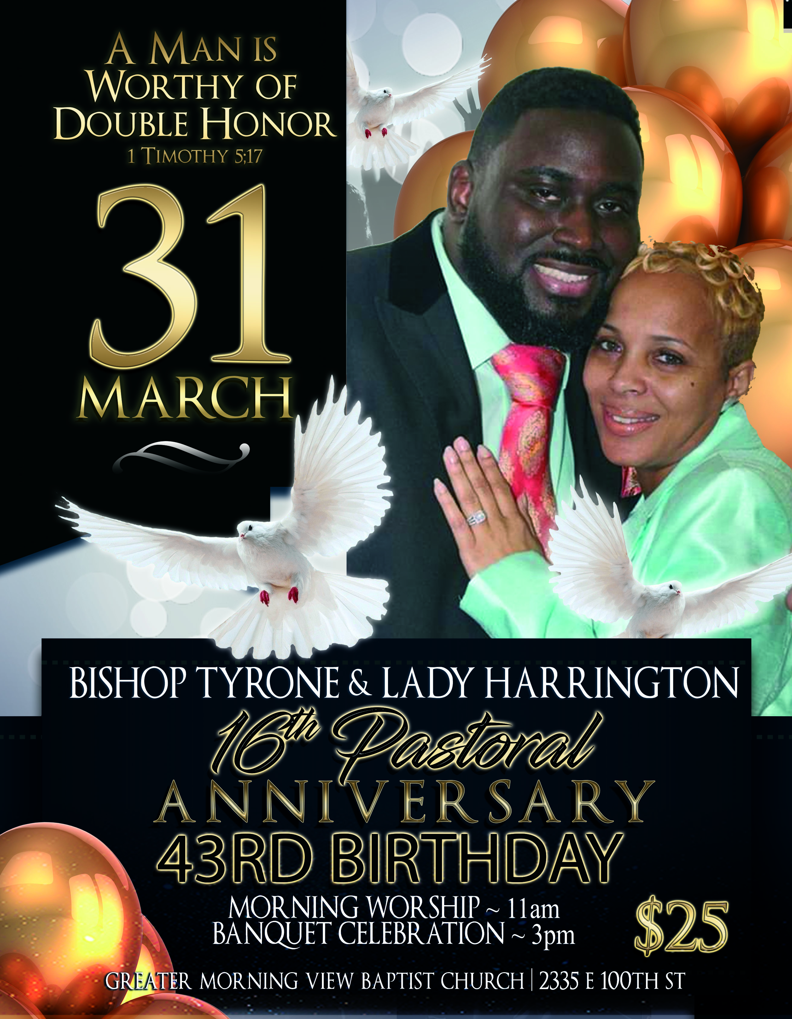 Bishop Tyrone Anniversary Flyer