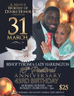 Bishop Tyrone Anniversary Flyer