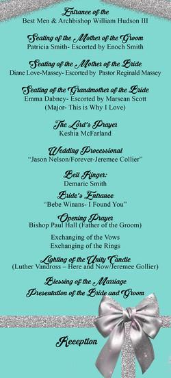 tiffany wedding program