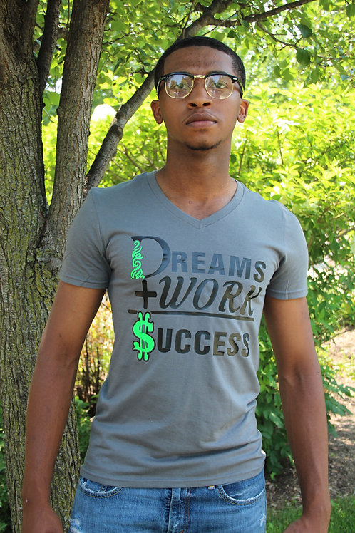Dreams + Works= Success Vneck