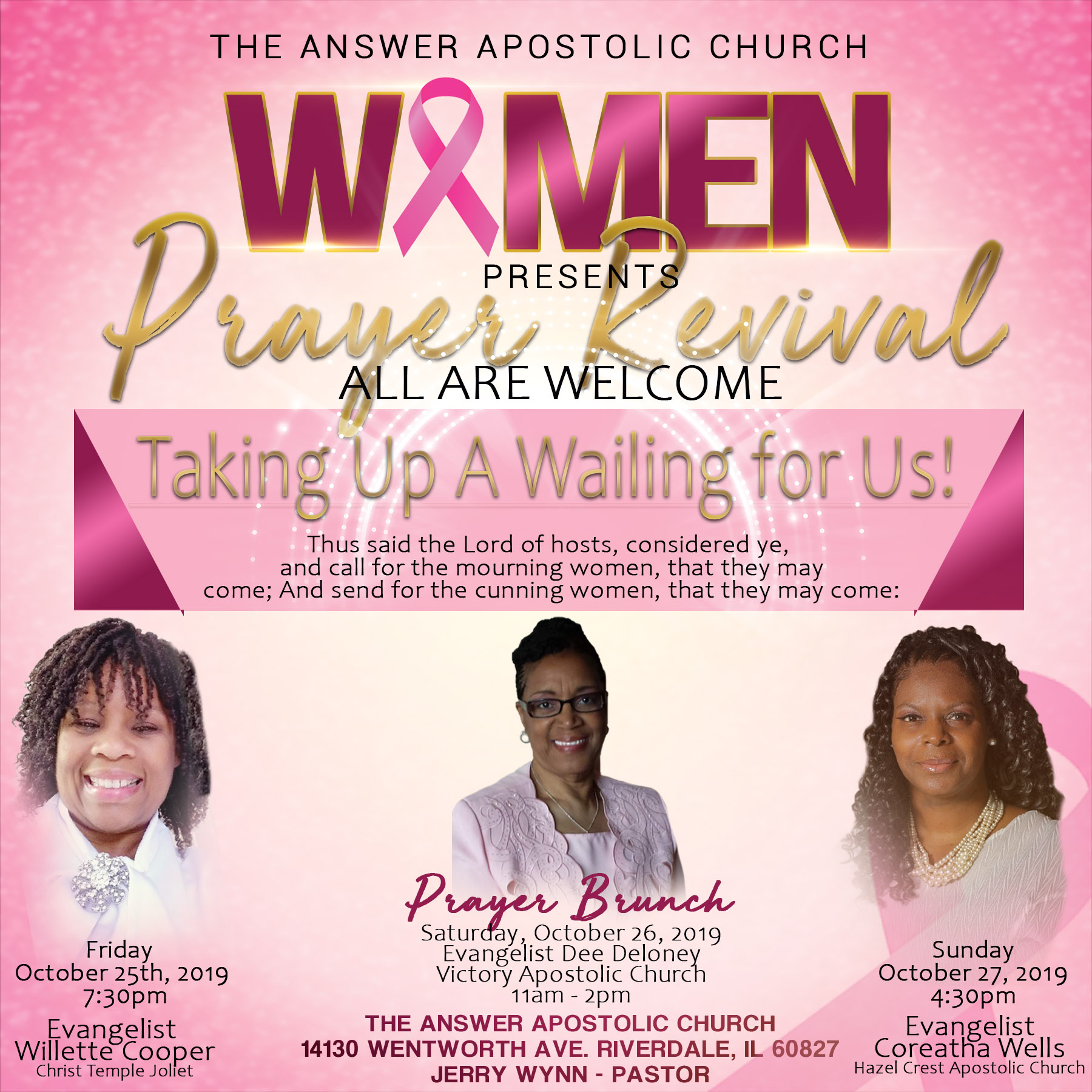 Pastor Wynn Women Prayer Revival