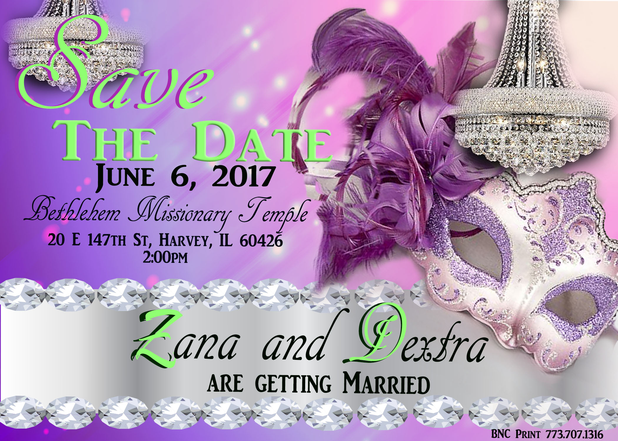 zana wedding invite