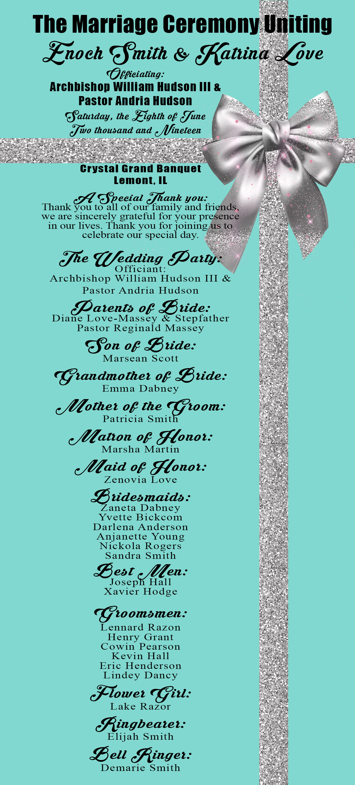 tiffany wedding program1