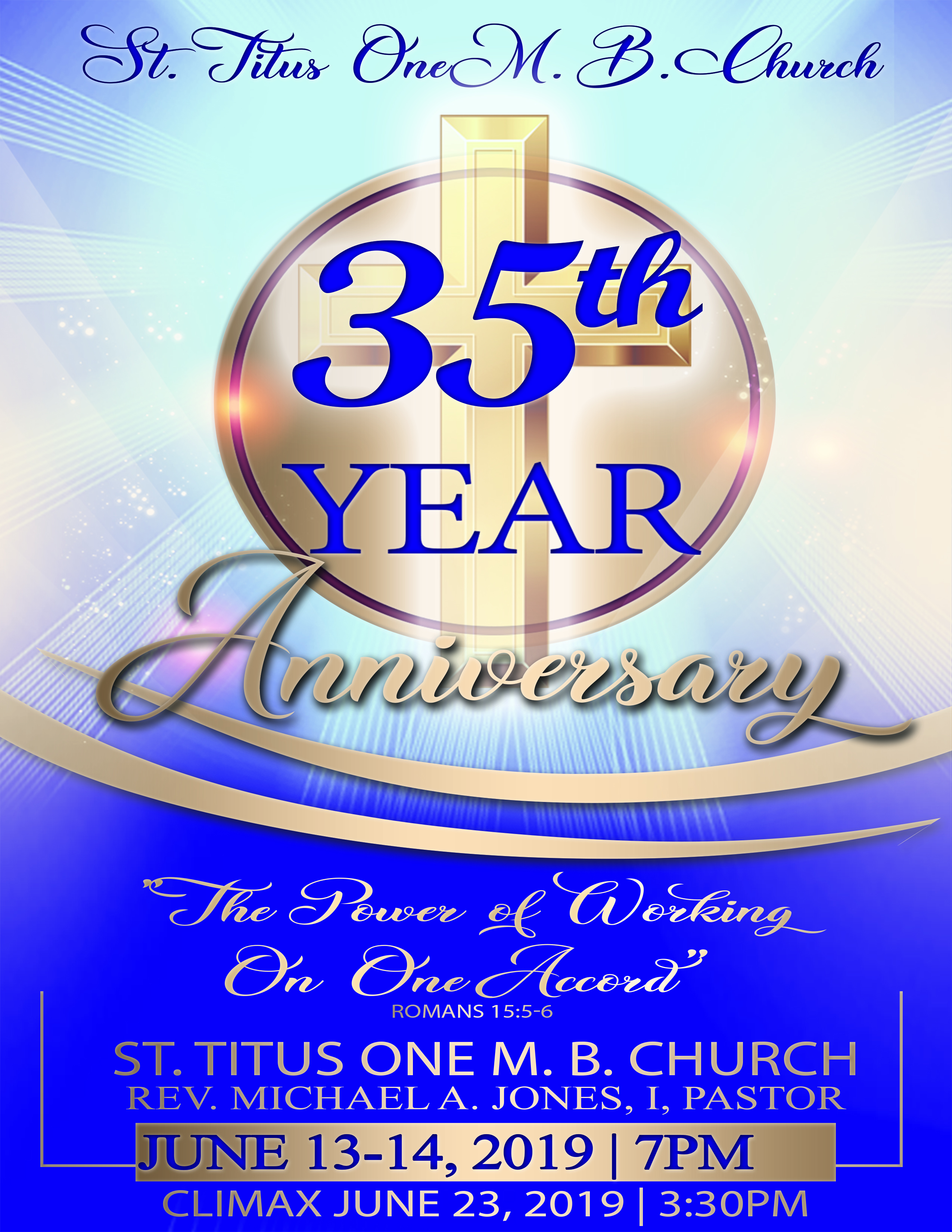 35TH Anniversary Geri Jones