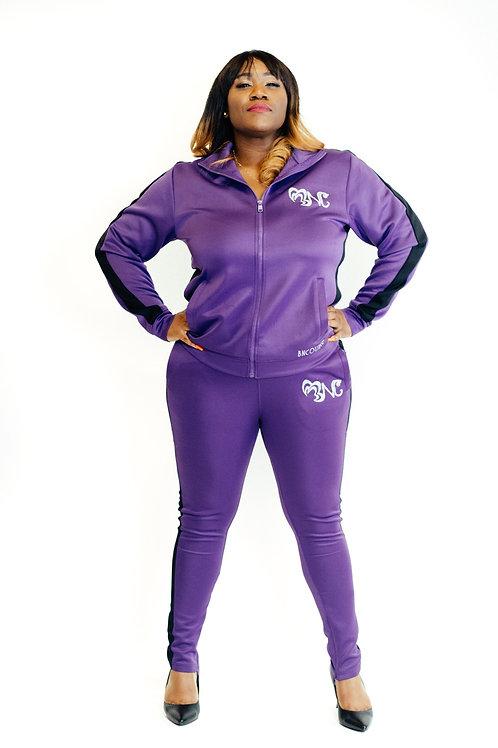 Purple/Glitter Tracksuit