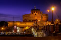 rome castel night