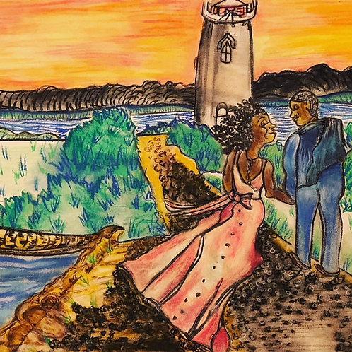 Wedding Couple on the Vineyard