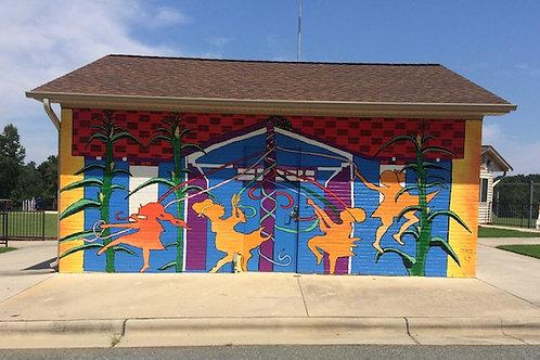 Mural at Green Level Municipal Park