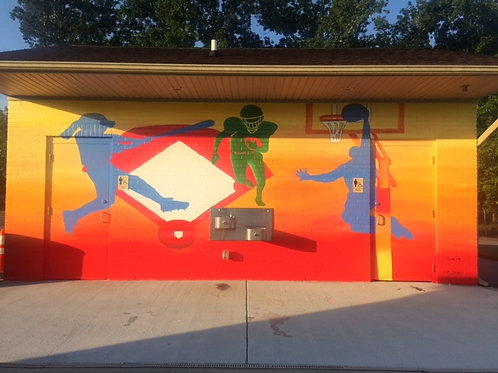 Sports Mural at Green Level Municipal Park