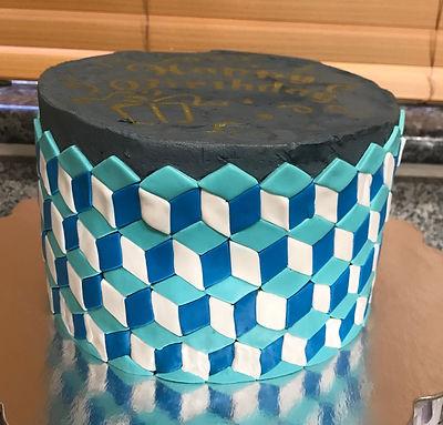 cube cake fondant