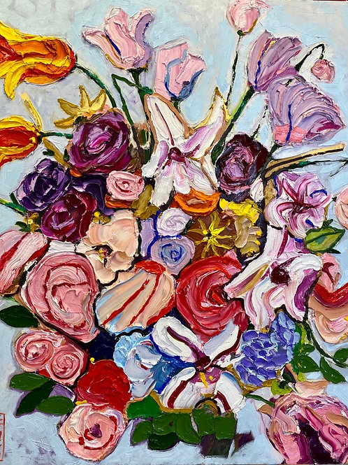 """Original, """"Abstract Floral #2"""""""