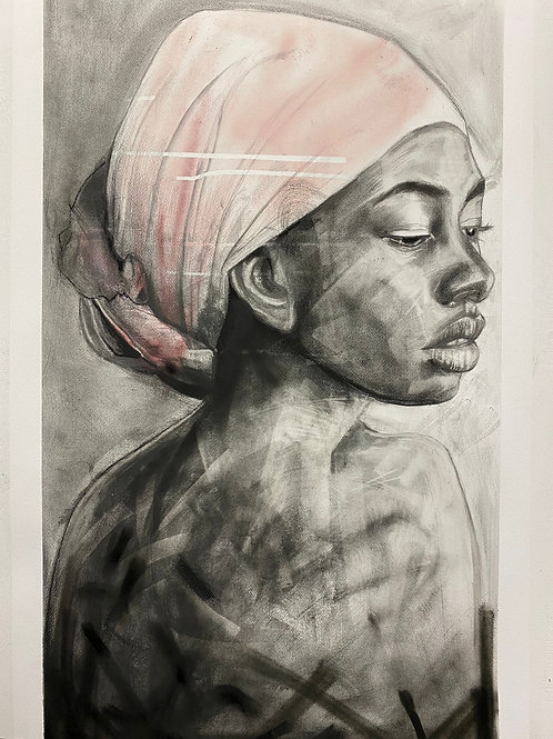 """Original """"Woman with the Pink Turban"""""""