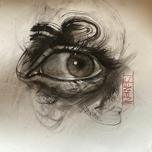 "Original ""Eye Study  #8"""
