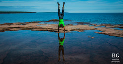 Handstand on Stockton Island watermarked
