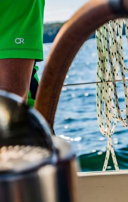Club Ride Logo on a Sailboat