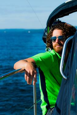 Scottie on the Sailboat Lookin Fly