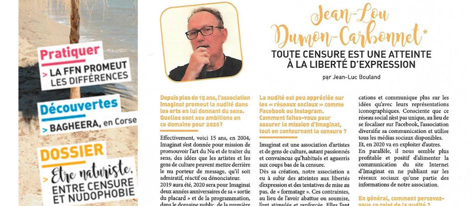 Imaginat interviewée dans Naturisme Magazine février-mars 2020