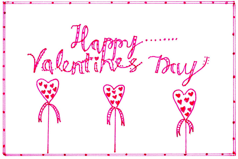 Valentine's Day Lollipops  (Pack of 6)