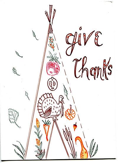 """Thanksgiving Tipi"" Greeting Card"