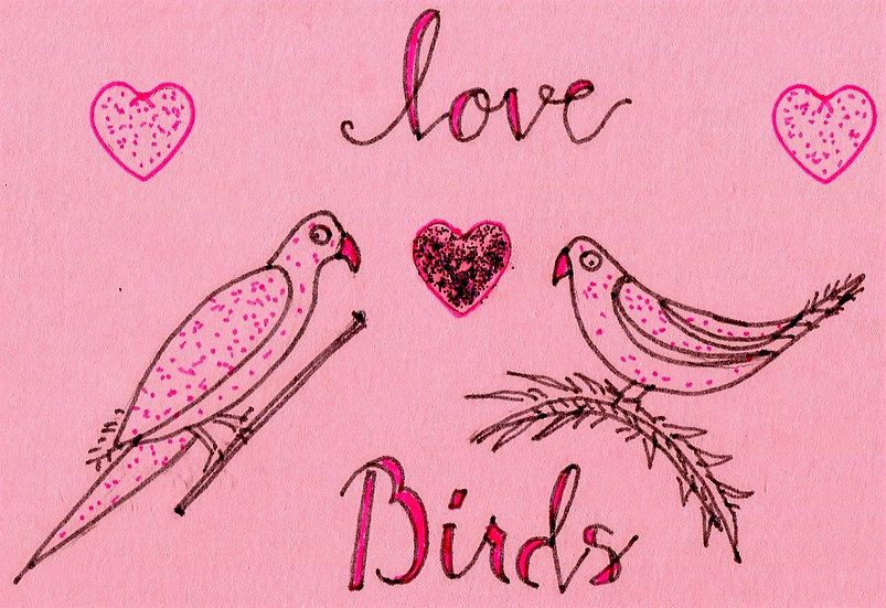 Love Birds Valentine's Day Card (Pack of 6)