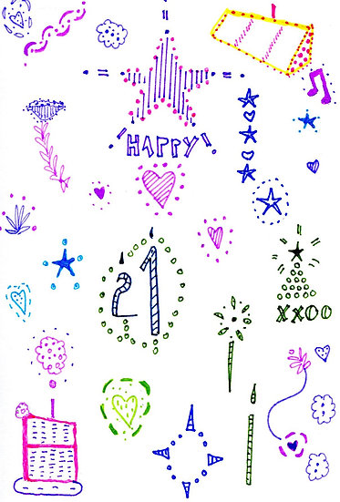 21st Birthday Card (Pack of 3)