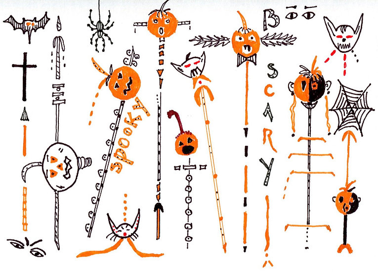 Spooky Halloween Creatures Card (Pack of 3)