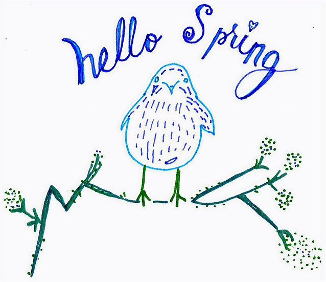 Hello Spring Notecard (Pack of 6)