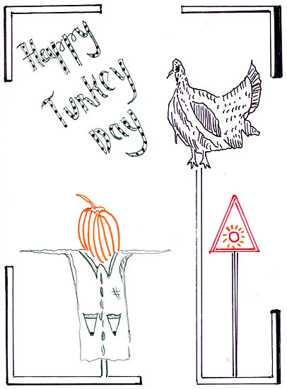 Happy Turkey Day Notecard