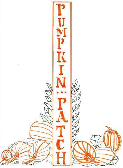 Pumpkin Patch Autumn Notecard