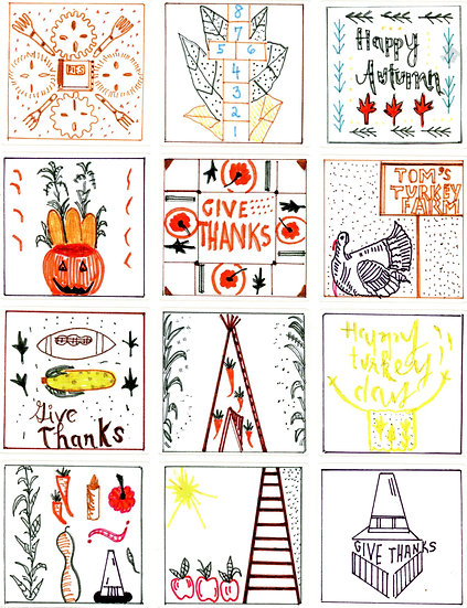 THANKSGIVING STICKERS!!