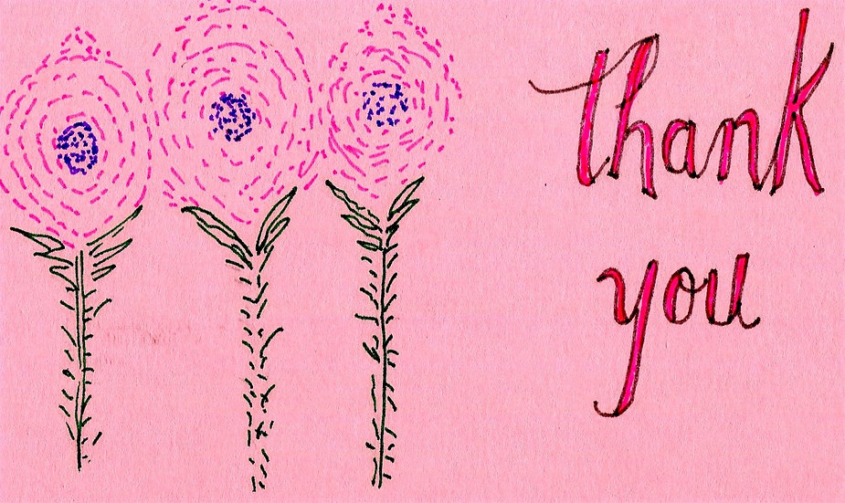 Thank You Bouquet Card (Pack of 6)
