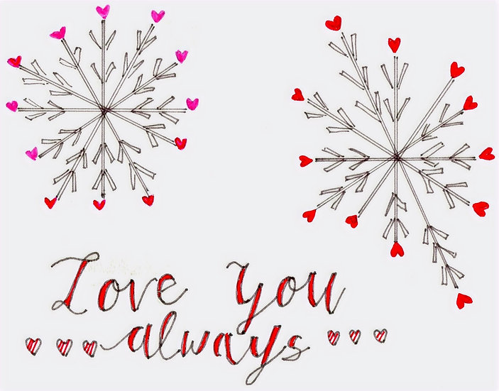 Love You Always Valentine's Card  (Pack of 6)