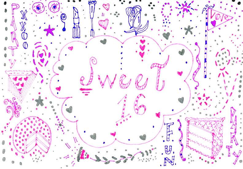 """Sweet 16"" Birthday Card"