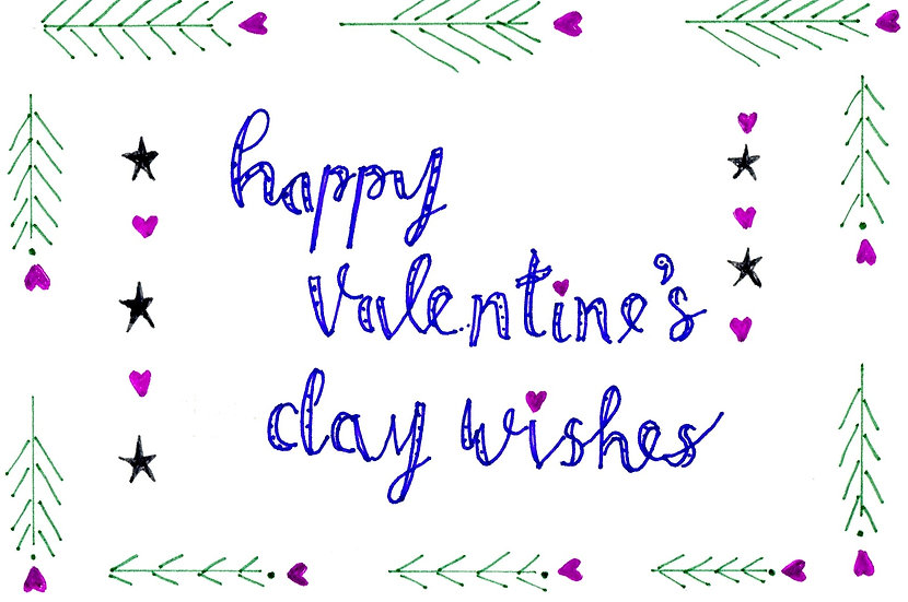 Happy Valentine's Day Wishes  (Pack of 6)