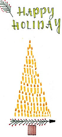 Candles Make the Tree Postcard