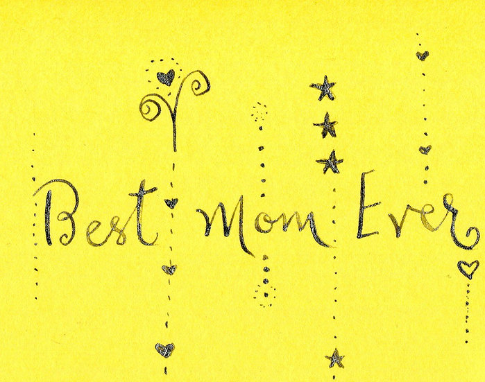 """""""Best Mom Ever"""" Notecard (Pack of 6)"""