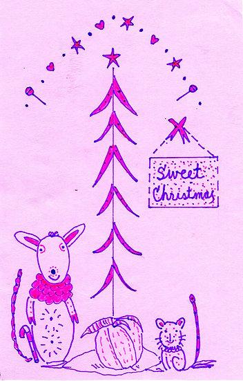 """Sweet Christmas"" Kids Greeting Card"