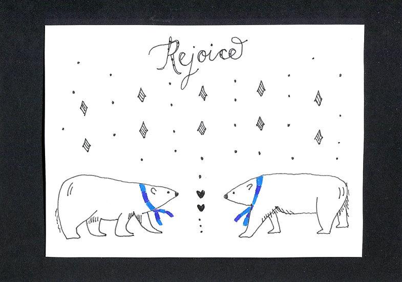 """""""Rejoice"""" Christmas Card"""