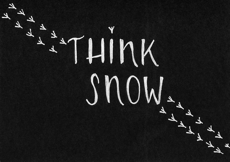 """""""Think Snow"""" Notecard  (Pack of 6)"""